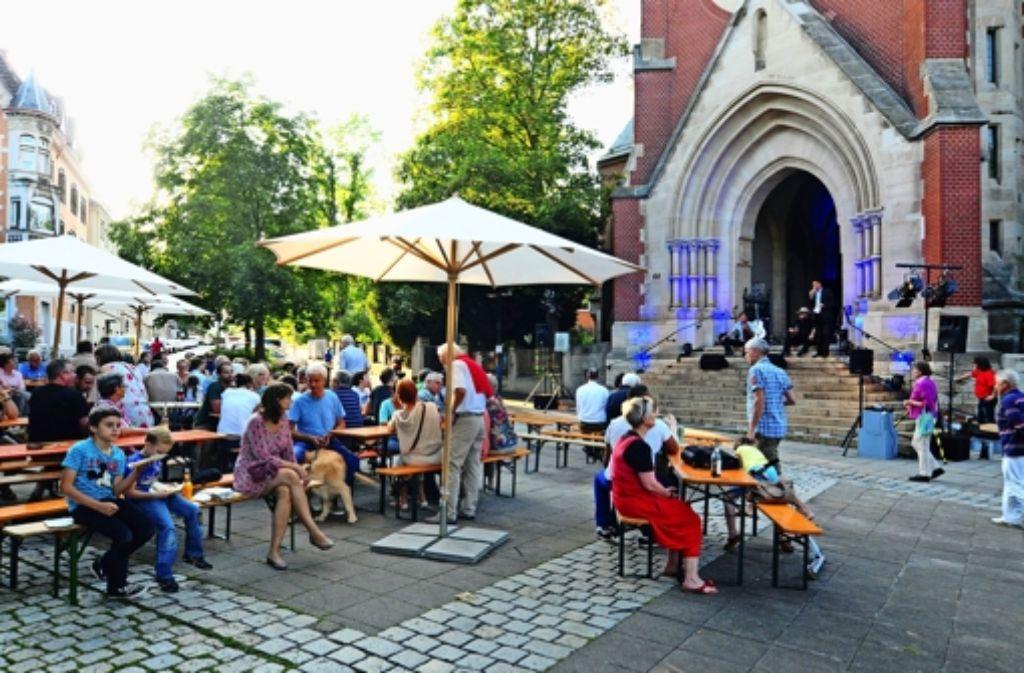 Gemütliches Beisammensein: Das Lukasplatzfest hat Foto: Robin Daniel Frommer