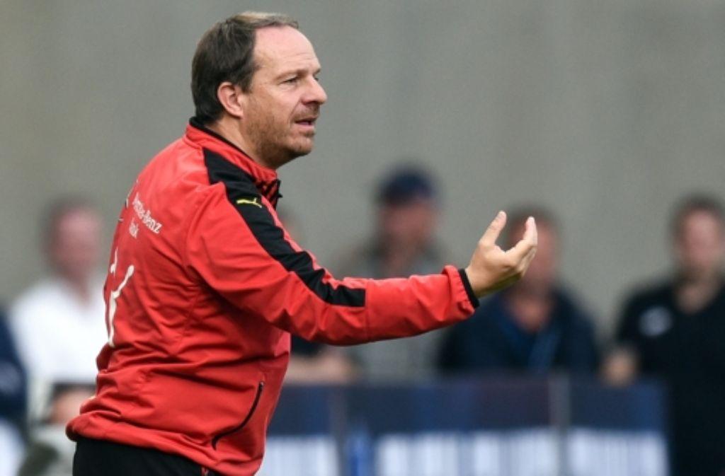 Volles Engagement: der VfB-Trainer Alexander Zorniger Foto: dpa