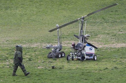 Mini-Hubschrauber landet vor Kapitol