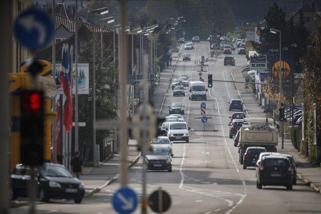 Die Trasse der früheren B14 führt mitten durch die Stadt. Die Umgestaltung ist ein wichtiges Thema in Winnenden. Foto: Gottfried Stoppel