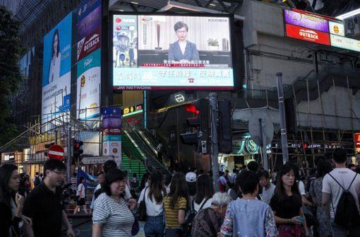 Hongkong-Regierung lenkt ein