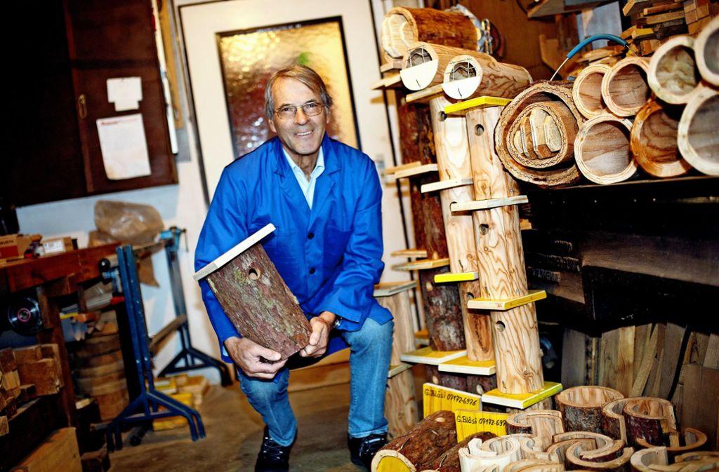 Die Arbeit in seiner Werkstatt geht Georg Bläsi nicht aus. Foto: Ines Rudel
