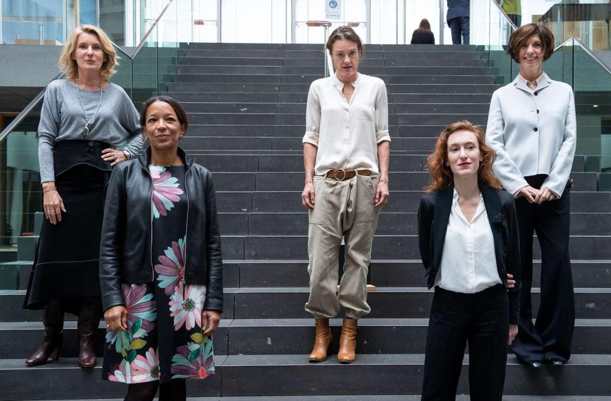 Maria Furtwängler, Janina Kugel, Katja Kraus, Nora Bossong und Jutta Allmendinger. Foto: dpa/Bernd von Jutrczenka