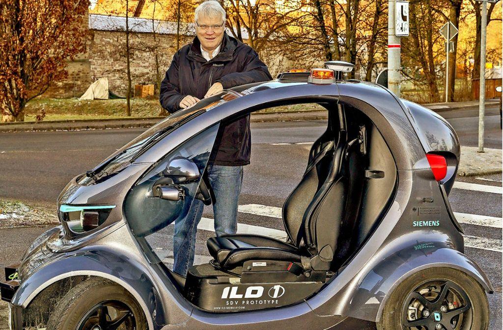 Armin Müller hat viel vor: Der Ilo ist ein Teil seines Mobilitätskonzepts. Foto: factum/Bach