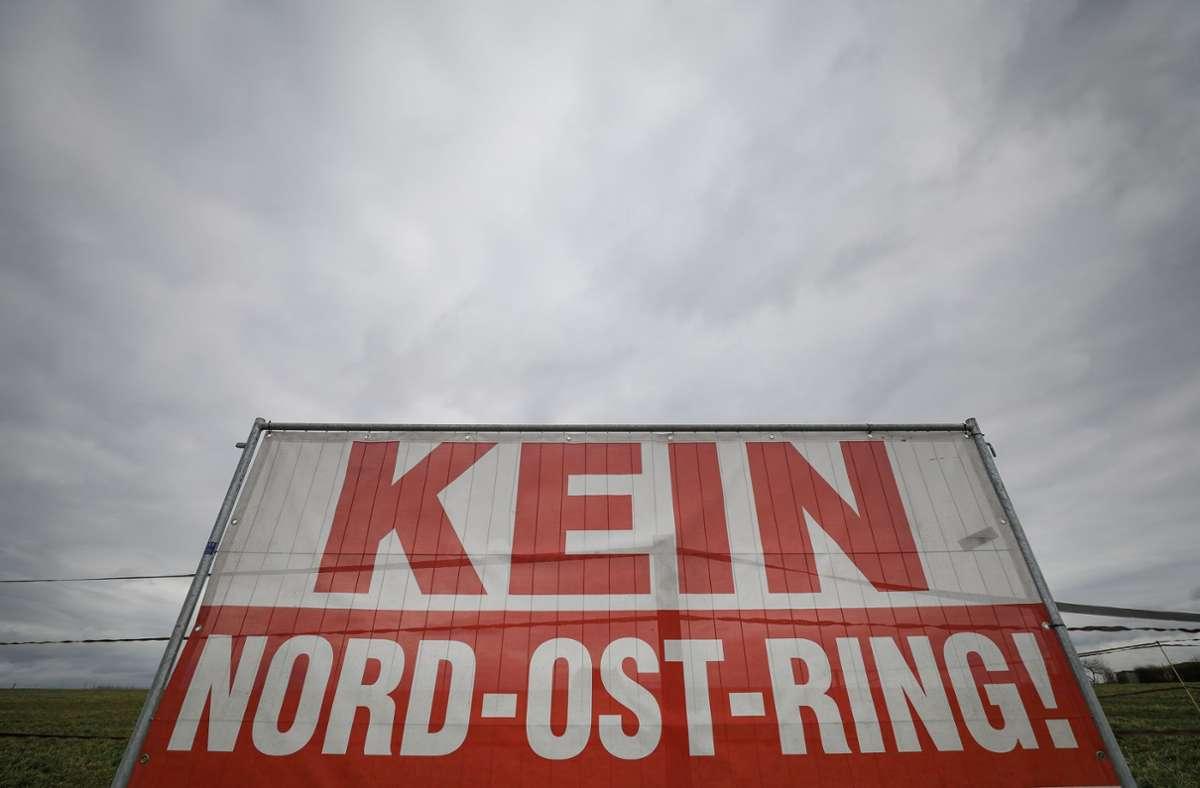 Gegen den Nordost-Ring regt sich schon lange Protest. Foto: Lichtgut/Christoph Schmidt