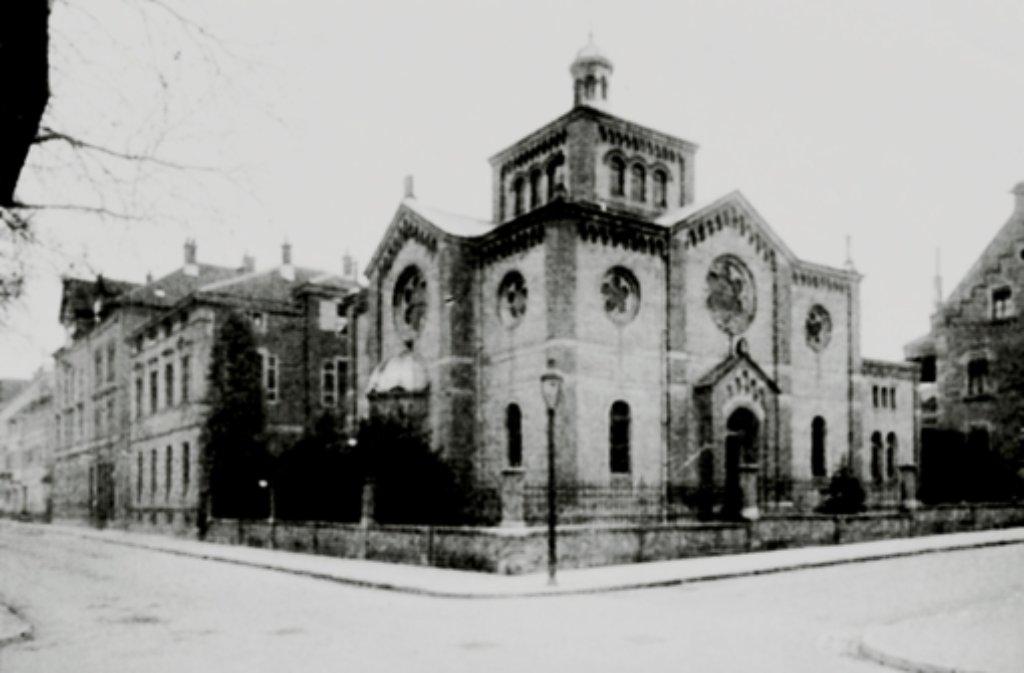 So sah die  Ludwigsburger Synagoge vor 1938 aus. Foto: Archiv