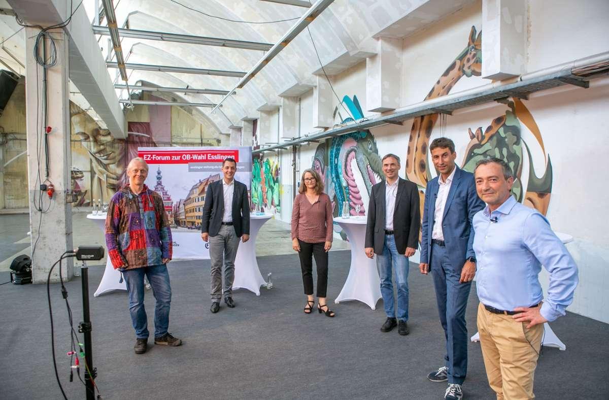 Diese fünf Kandidaten und eine Kandidatin stellen sich am Sonntag zur Wahl. Foto: Roberto Bulgrin