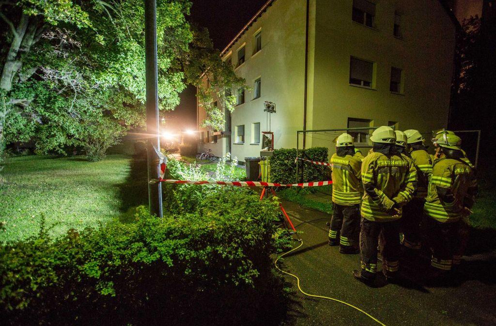 Was sich am Tatort in der Esslinger Straße abgespielt hat, ist noch unklar. Foto: 7aktuell.de/Simon Adomat