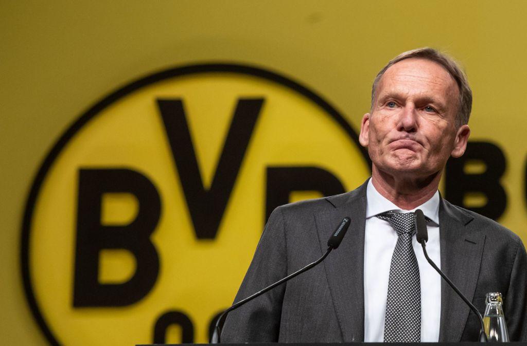 In der Kritik: Hans-Joachim Watzke Foto: dpa/Bernd Thissen