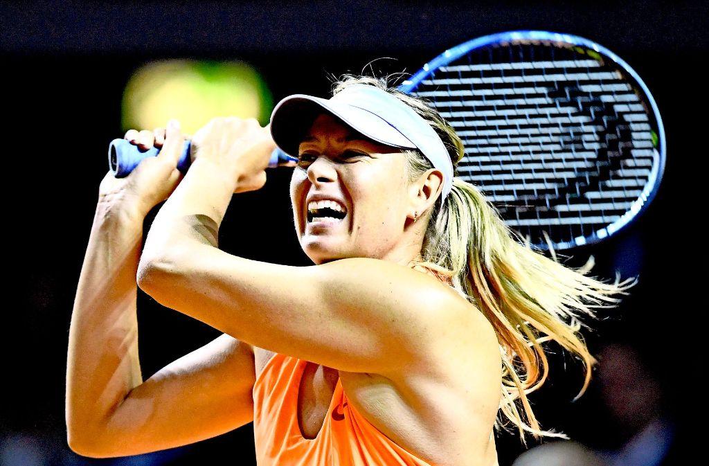 Maria Scharapowa schafft es beim Stuttgarter Tennis Grand Prix bis ins Halbfinale. Foto: dpa