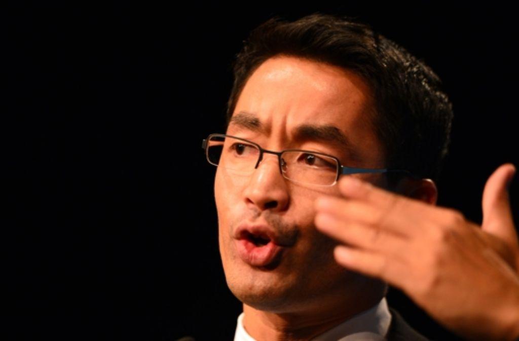 """Der FDP-Chef zeigt der """"taz"""" die Kante. Foto: Getty Images Europe"""
