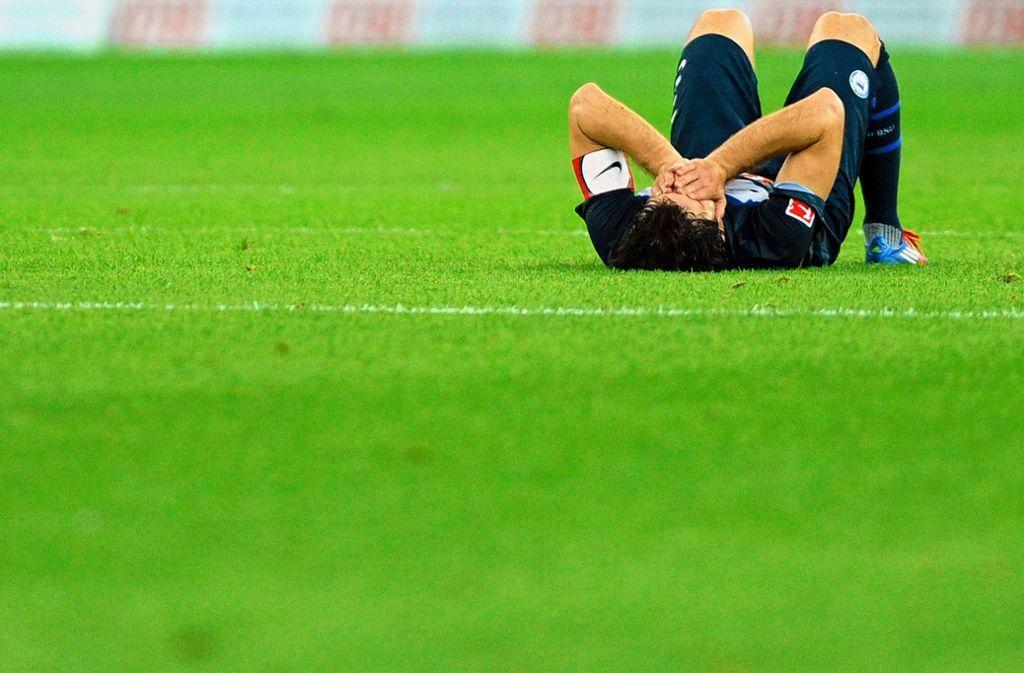 Hertha BSC scheiterte 2012 in der Relegation an Fortuna Düsseldorf – nach einem Jahr in Liga zwei ging es wieder nach oben. Foto: dpa