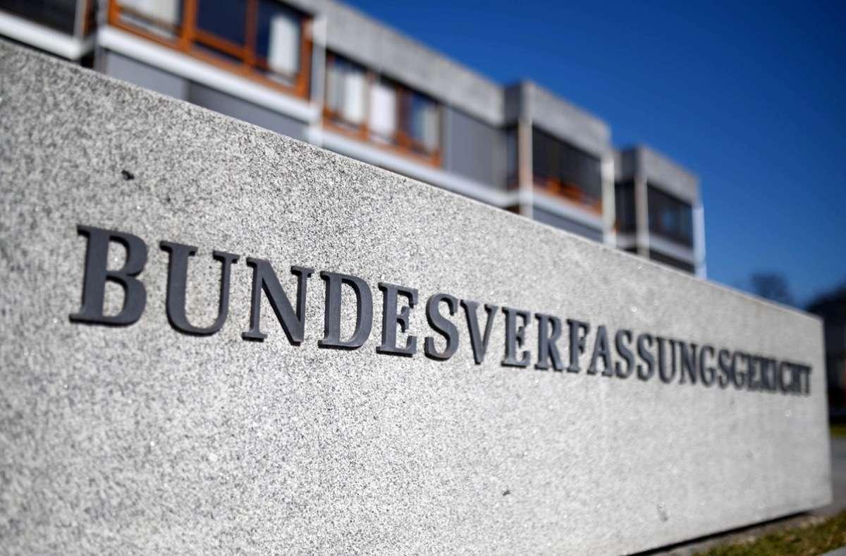 Bundesverfassungsgericht in Karlsruhe. (Archivbild) Foto: dpa/Uli Deck