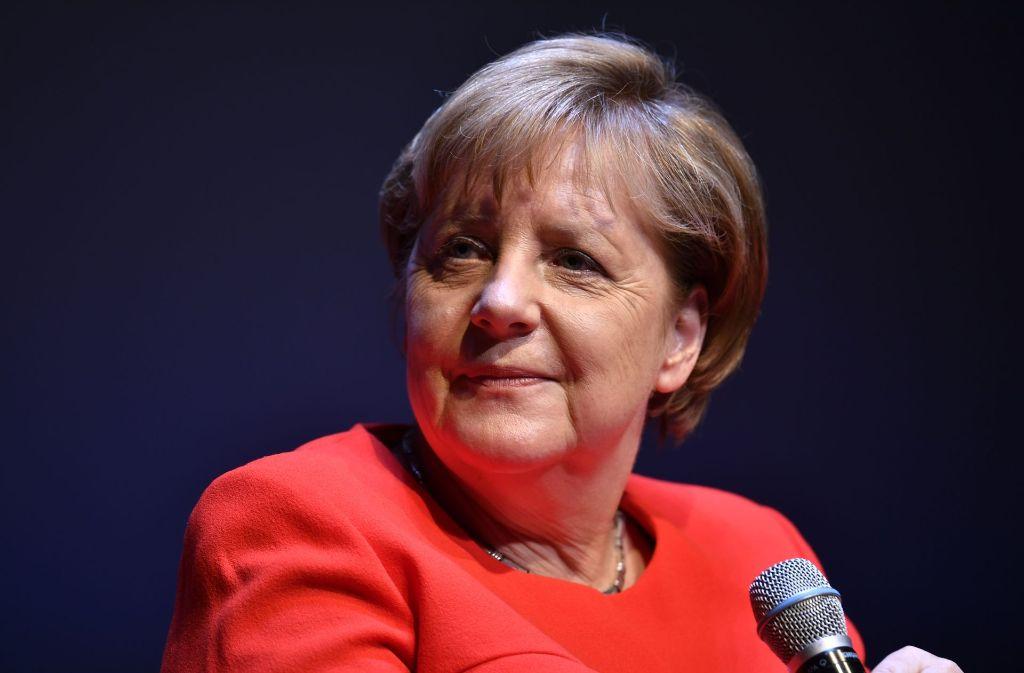 """Beim """"Brigitte""""-Talk am Montagabend in Berlin überraschte Bundeskanzlerin Angela Merkel mit einem Kurswechsel. Foto: Getty Images Europe"""