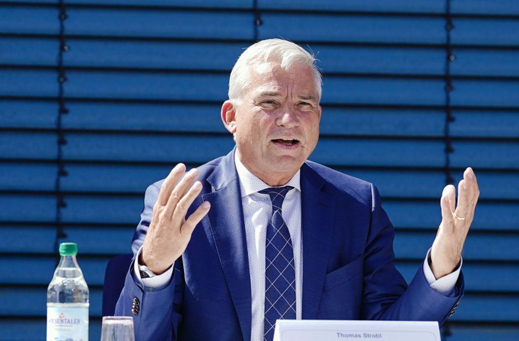 Thomas Strobl wirbt um einen schnellen staatlichen Impuls für die Autoindustrie, der sich nicht nur auf die Förderung von E-Autos konzentrieren soll. Foto: dpa/Uwe Anspach