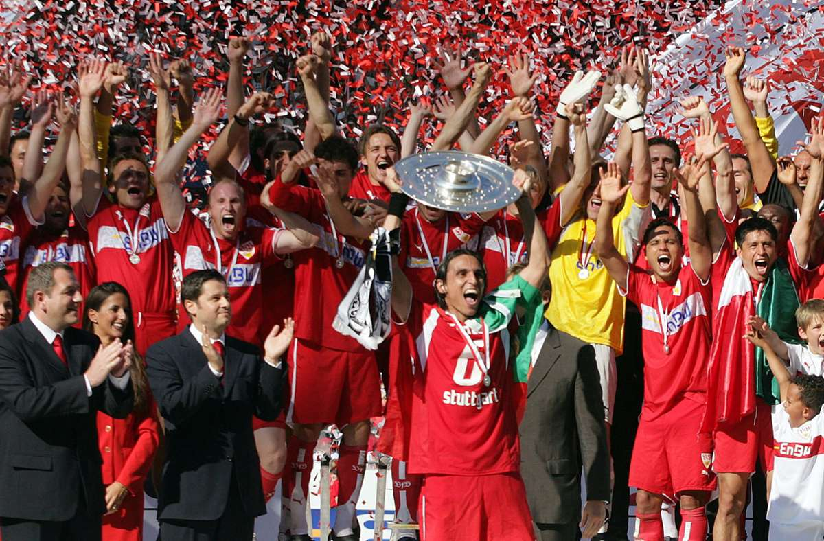 2007 feierte der VfB Stuttgart die  deutsche Meisterschaft. Aber wo stehen die Schwaben in der ewigen Tabelle? Foto: baumann/Baumann