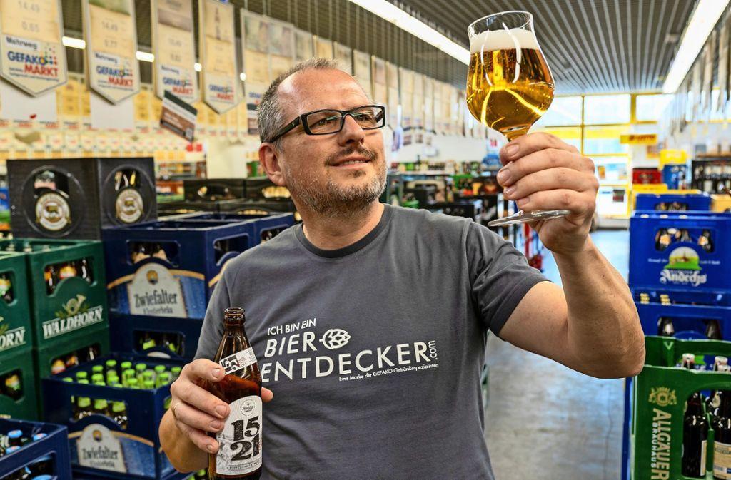 Hat große Pläne: Der Getränkegroßhändler Frank Di Marco möchte in Korntal-Münchingen Bier brauen. Mehr Fotos finden Sie in unserer Bildergalerie. Klicken Sie sich durch. Foto: factum/Jürgen Bach