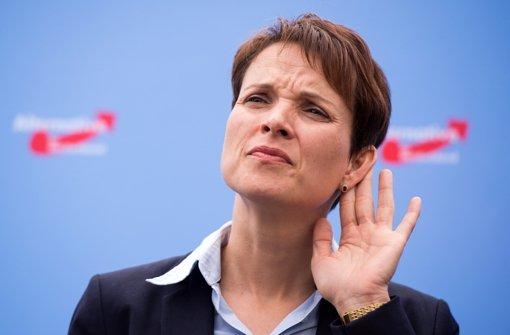 Neue AfD-Chefin schrecken Austritte nicht