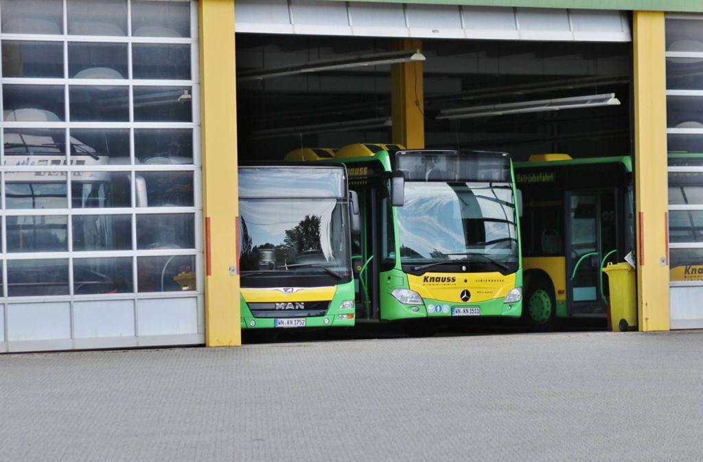 Die Knauss-Busse werden vor allem im Linienverkehr eingesetzt. Foto: 7aktuell.de/Lermer