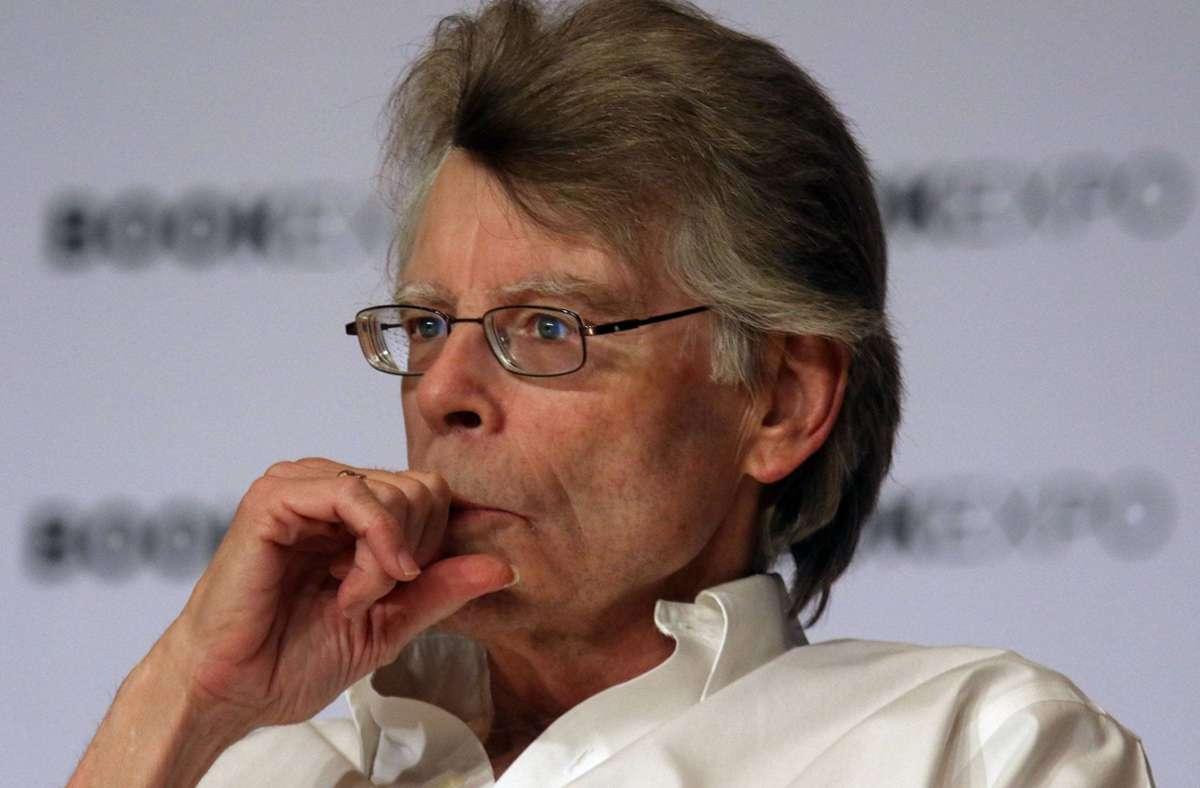 Der Autor Stephen King sieht eigentlich ganz normal aus – aber hinter dieser Stirn wohnen Monster. Foto: imago/Zuma Press/Nancy Kaszerman