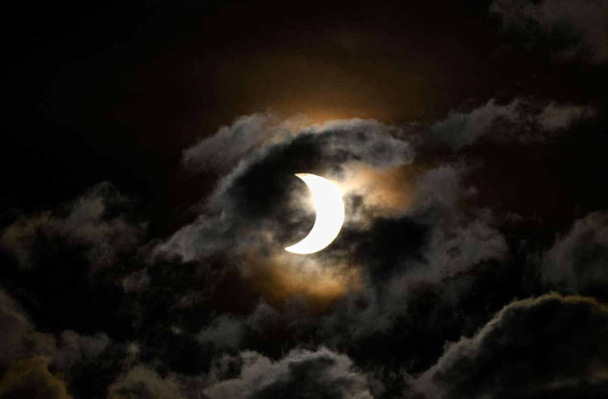 Diese partielle Sonnenfinsternis war 2020 in Nairobi zu sehen. Foto: dpa/Li Yan