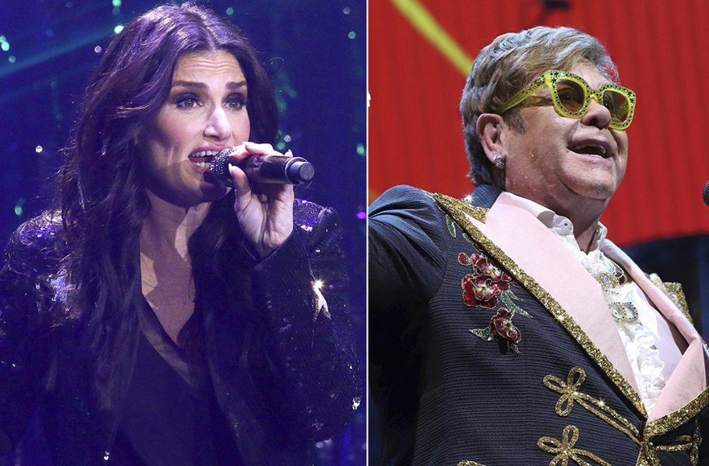 Haben zugesagt: Idina Menzel und Elton John werden bei der Oscar-Gala auftreten. Foto: AP
