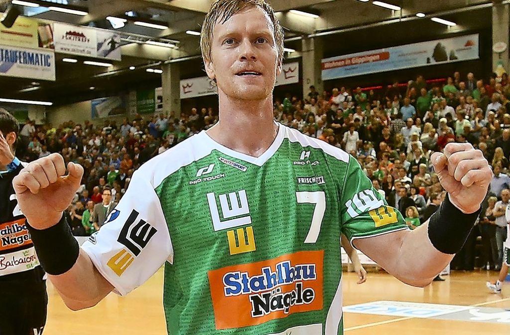 Wieder da: Christian Schöne feiert ein irres Comeback gegen den SC Magdeburg Foto: Baumann