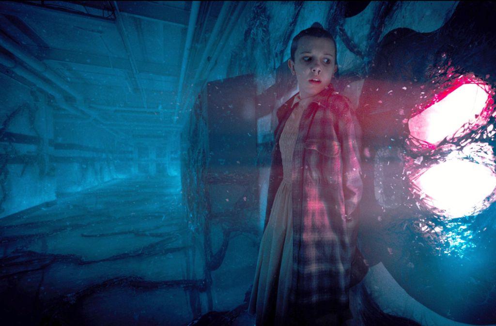 "Millie Bobby Brown spielt den Hauptcharakter ""Eleven"". Foto: Netflix"