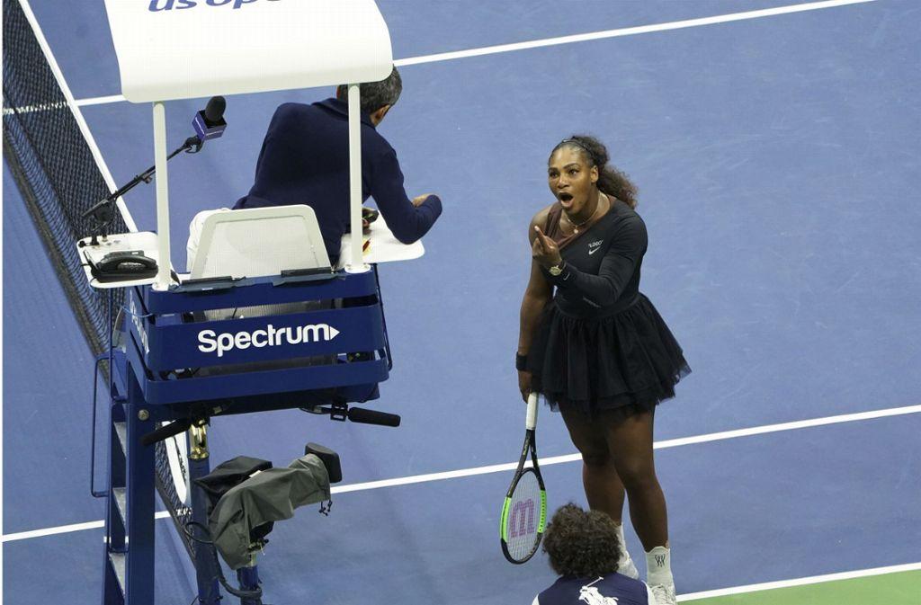 Serena Williams hatte bei der Niederlage gegen die Japanerin Naomi Osaka drei Verwarnungen von Schiedsrichter Carlos Ramos erhalten. Foto: Invision