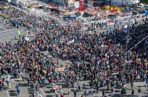 20000 Teilnehmer bei Klimademo