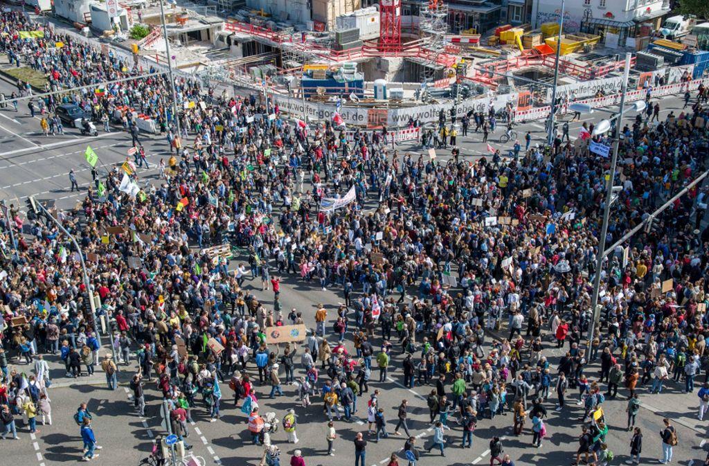 Klimastreik in Stuttgart Foto: 7aktuell/Nils Reeh