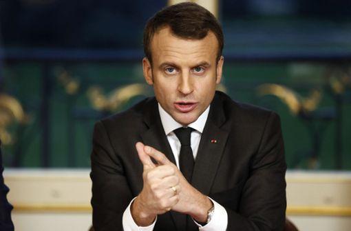 """Macron spricht von """"feiger Lynchjustiz"""""""