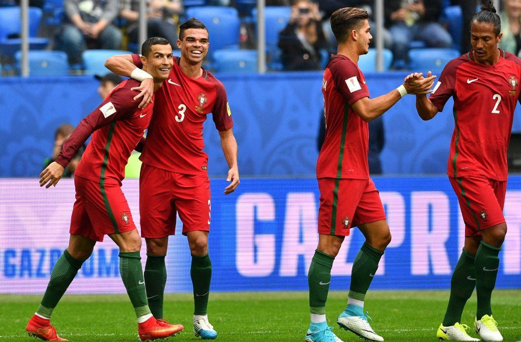 Portugal steht nach dem Sieg gegen Neuseeland im Halbfinale des Confed-Cup. Foto: AFP
