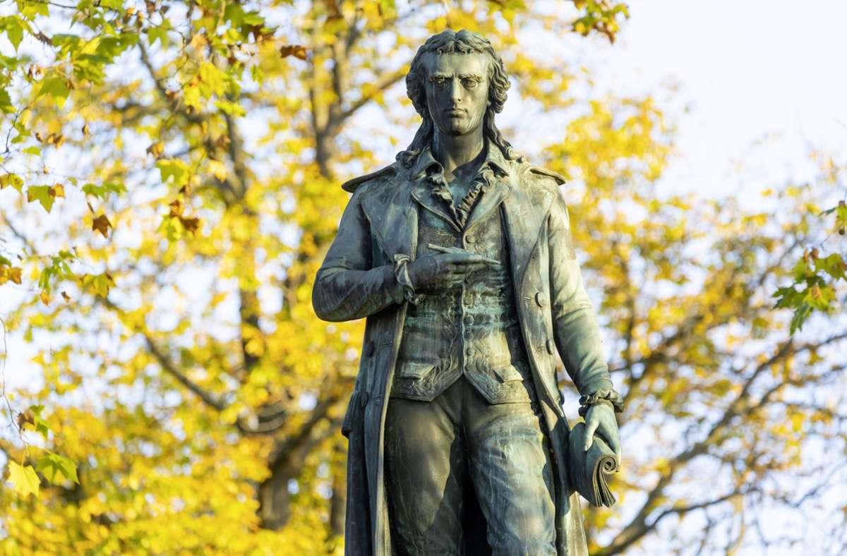 """Friedrich Schiller ist die Inspiration von Oliver von Schaewen: Der Autor veröffentlicht seinen vierten Krimi """"Liebestrug"""". Foto: imago images/Arnulf Hettrich/Arnulf Hettrich via www.imago-images.de"""
