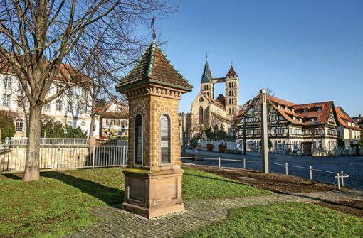 Historische Wettersäule in Esslingen