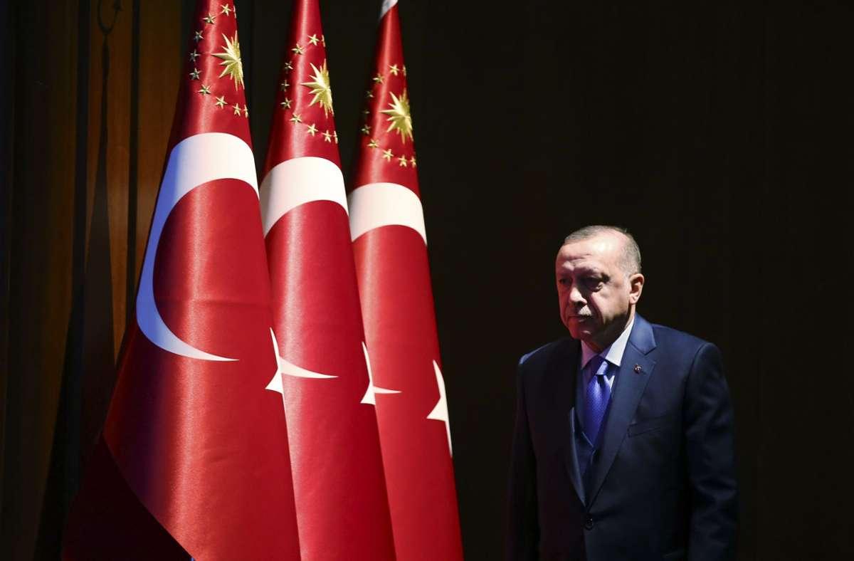 Recep Tayyip Erdogan wirkte in den letzten Wochen geschwächt. Foto: dpa/Pool Presidential Press Service