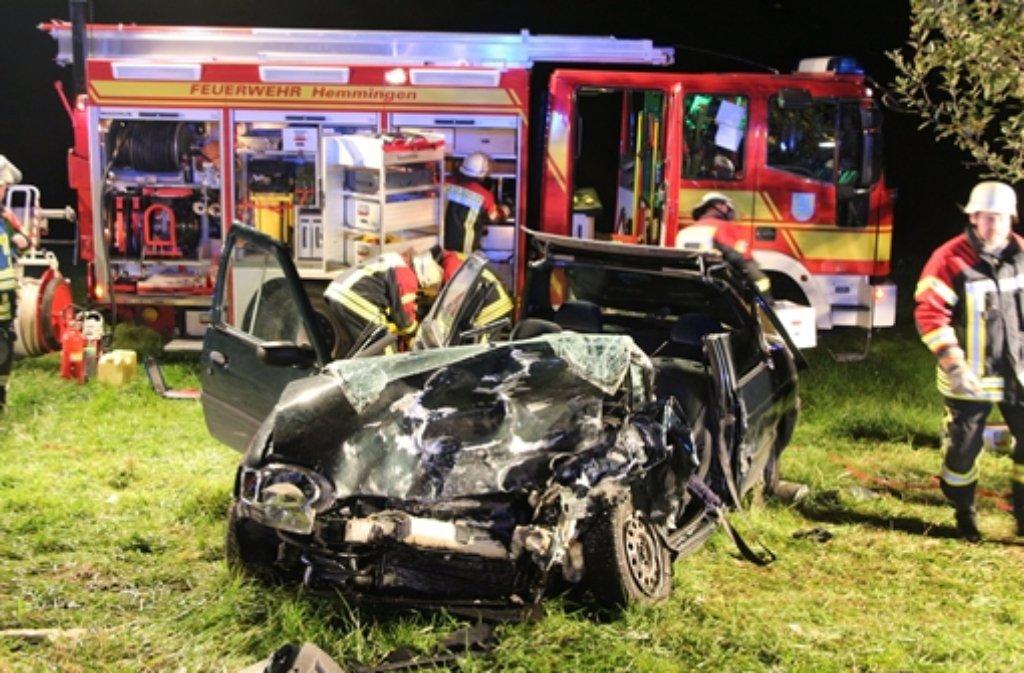 Bei einem Unfall nahe Hemmingen (Kreis Ludwigsburg) sind sieben Menschen teils schwer verletzt worden. Foto: SDMG / FM-Media