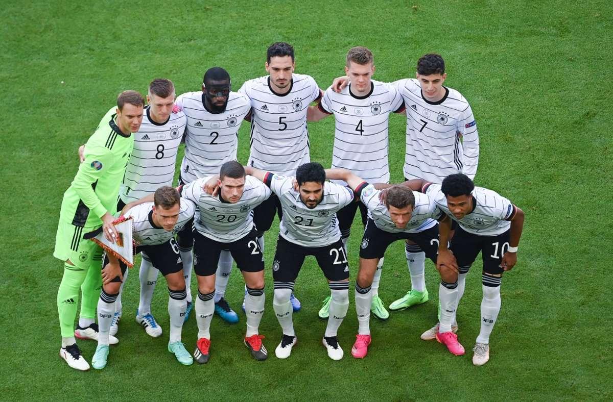 Gegen Europameister Portugal hat die DFB-Elf bei der EM 2021 4:2 gewonnen. Unsere Redaktion bewertet die Leistungen der DFB-Profis wie folgt. Foto: dpa/Federico Gambarini