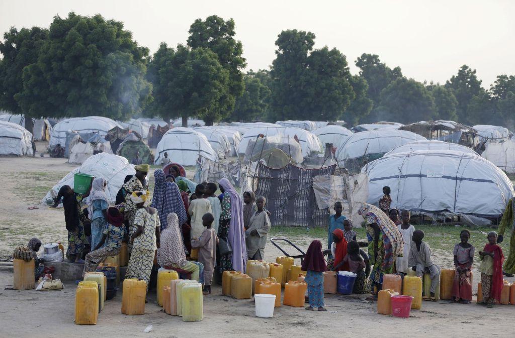 Dieses Foto zeigt ein Flüchtlingscamp in Maiduguri, Nigeria. Foto: AP