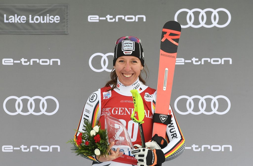 Platz drei: Kira Weidle erzielt in Kanada ihr bislang bestes Weltcup-Ergebnis. Foto: AFP