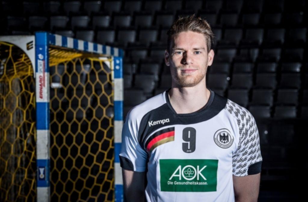 Tobias Reichmann steigt auf und  zieht ab – seine Tore  werden bei der EM  für die deutsche Mannschaft wichtig sein. Foto: