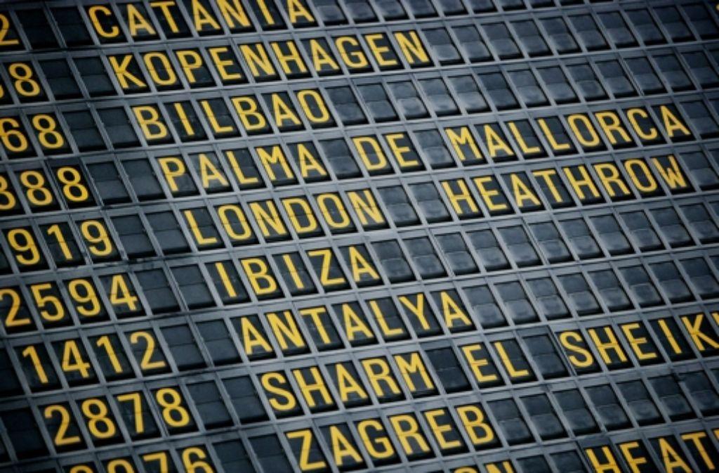 Weniger Flüge, mehr Passagiere –  für den  Flughafen ein gutes Geschäft. Foto: Steinert