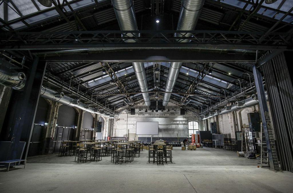 Der Gastro-Bereich der Wagenhallen nach dem Umbau. Foto: Lichtgut/Leif Piechowski