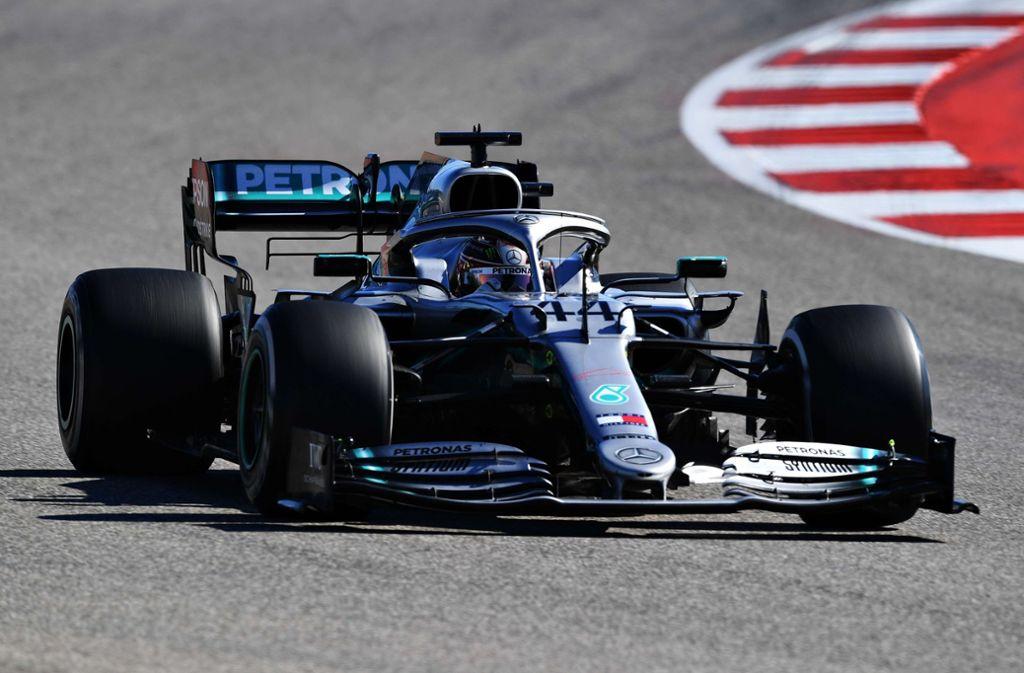 Lewis Hamilton ist zum sechsten Mal Formel-1-Weltmeister. Foto: AFP/CLIVE MASON