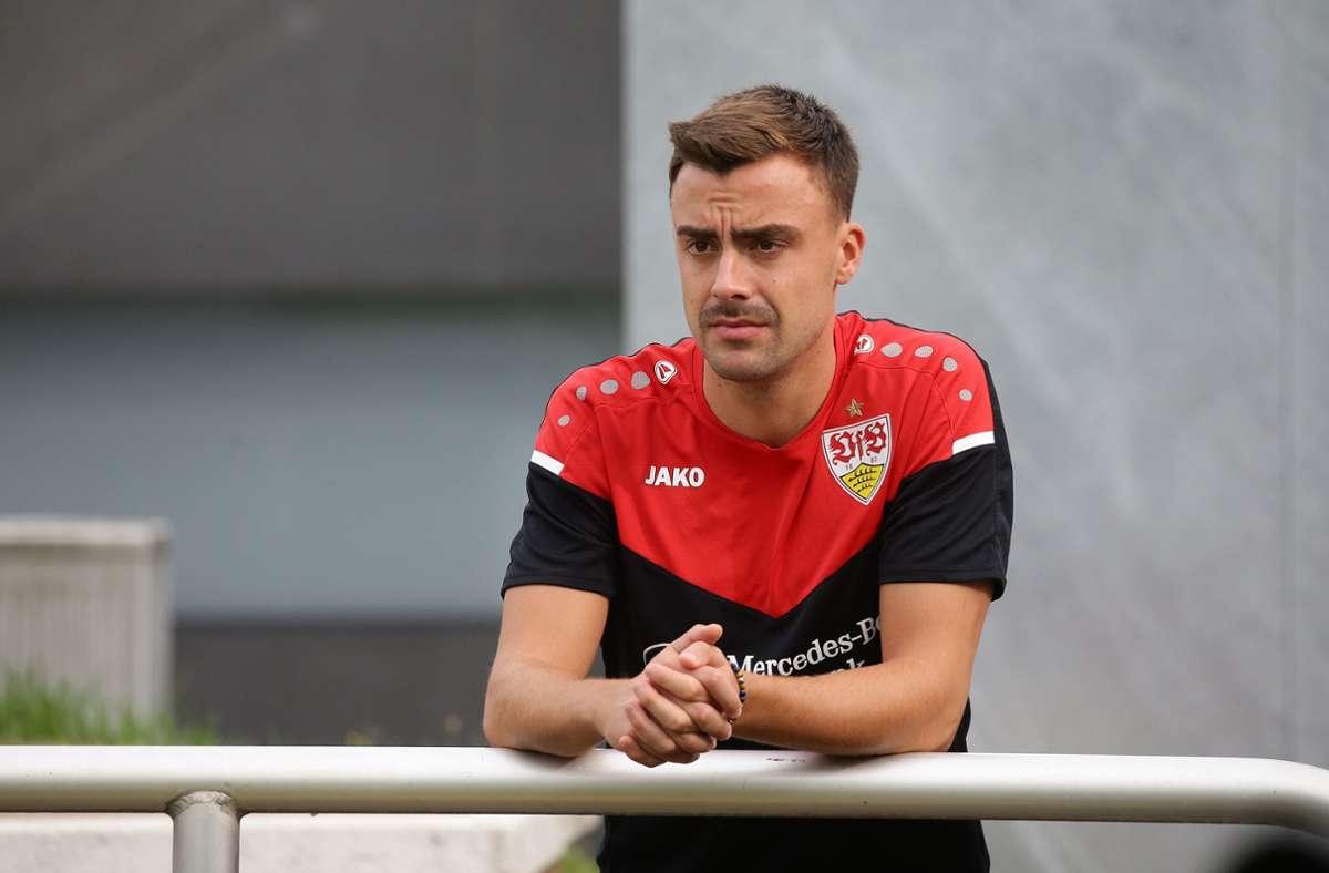 Philipp Förster musste aus dem VfB-Trainingslager Ende August vorzeitig abreisen. Foto: Pressefoto Baumann/Hansjürgen Britsch