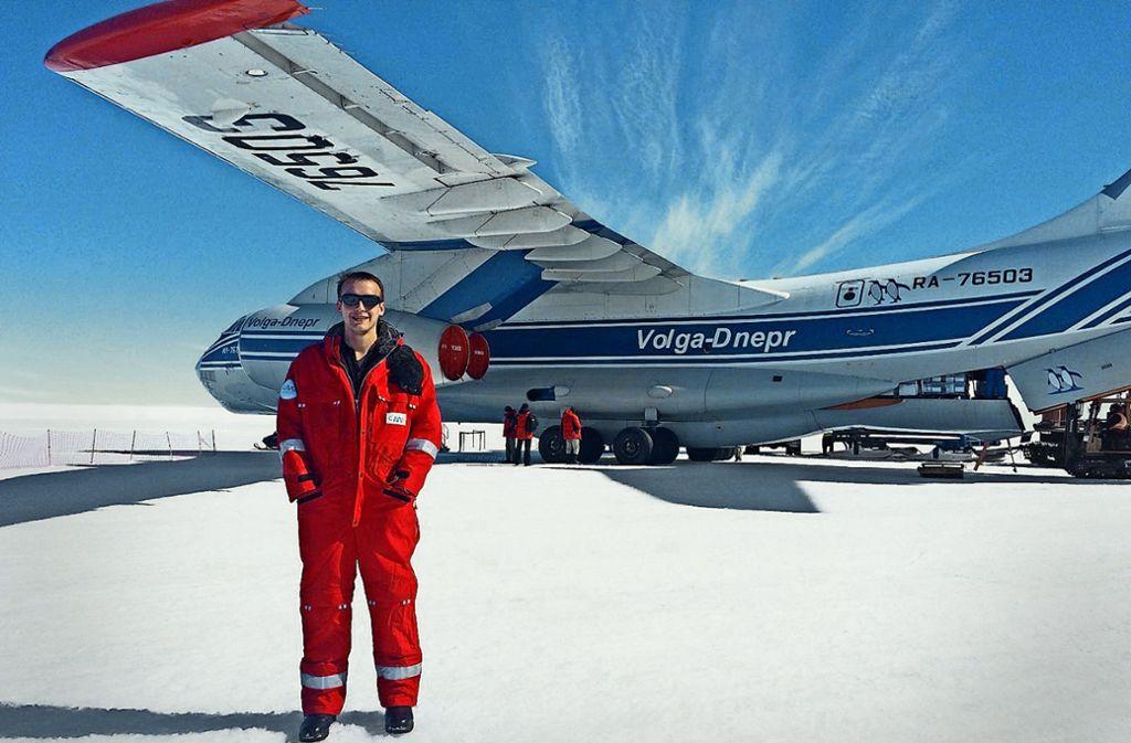 Mit dieser Maschine kam Daniel  Nollvor 14 Monaten in die Antarktis. Foto: Christmann
