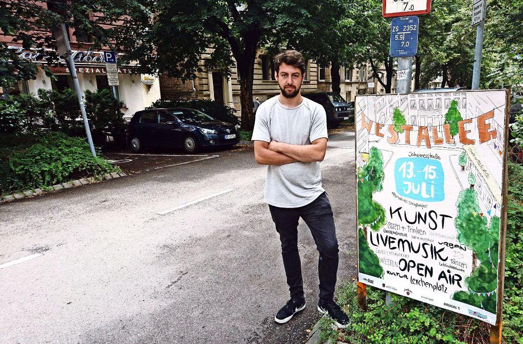 Felix Klenk organisiert zum zweiten Mal das Viertelfest im Westen. Foto: Björn Springorum