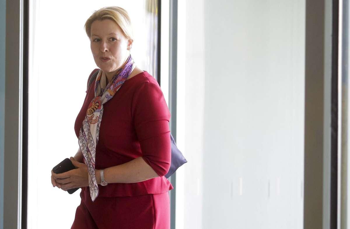 Franziska Giffey ist – wie viele Minister – in den Ferien in Deutschland geblieben. Foto: dpa/Markus Schreiber