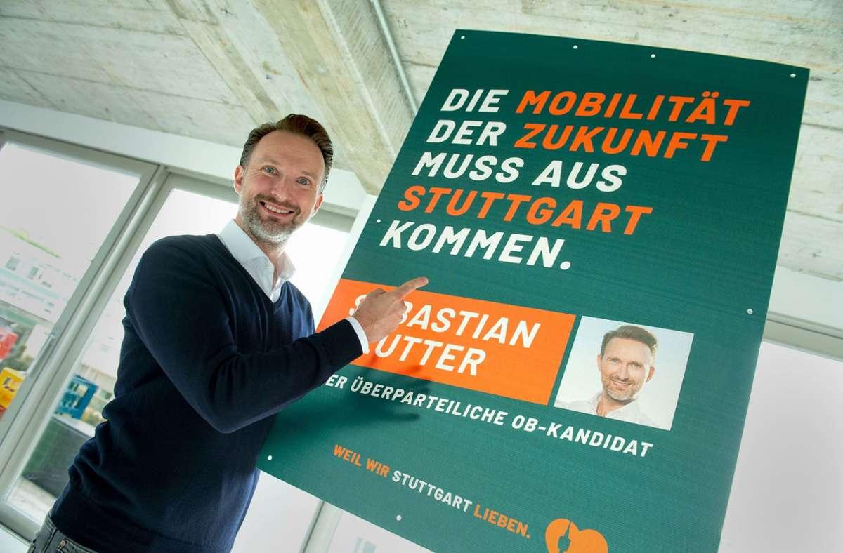 Der parteilose OB-Kandidat Sebastian Reutter rechnet sich bei der Wahl am 8. November durchaus Chancen auf den Chefsessel im Rathaus aus. Foto: Lichtgut/Leif Piechowski