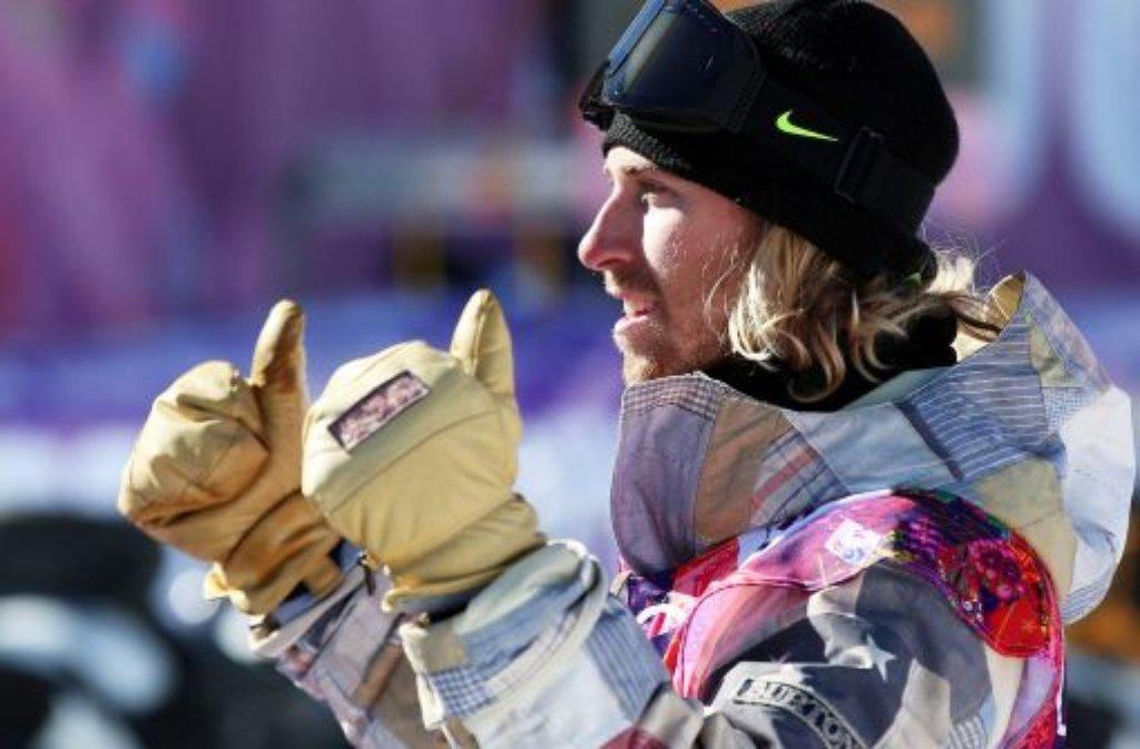 Sage Kotsenburg hat Grund zur Freude! Er ist der erste Goldmedaillengewinner von Sotschi. Foto: dpa
